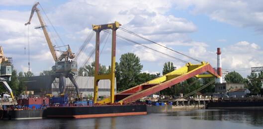Floating crane of the project LK-600