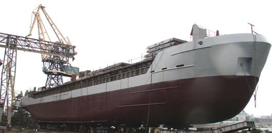 Корпус судна проекту Combifreighter 3850.